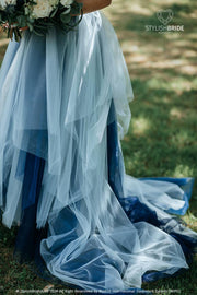 Disney Indigo Ombre  Wedding Dress