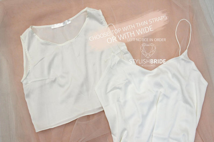 Gina | Bridesmaids Glitter Waves T-shirt Top