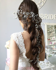 Adeline | Gorgeous extra long pearl hair vine 0.3-1.5 meters - StylishBrideAccs