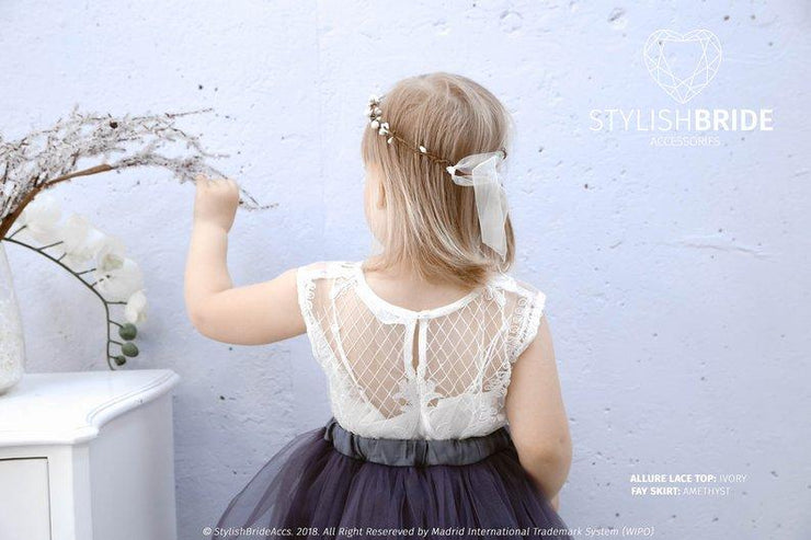 Allure | Flower Girl Birthday Lace Top - StylishBrideAccs