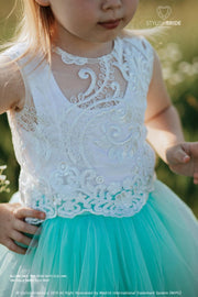 Allure | Flower Girl Lace Top & Fay Tulle Skirt - StylishBrideAccs