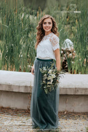 Allure | Prom Top & Waterfall Green Skirt - StylishBrideAccs
