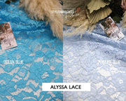 Alyssa | Embroidered Lace Fabric - StylishBrideAccs