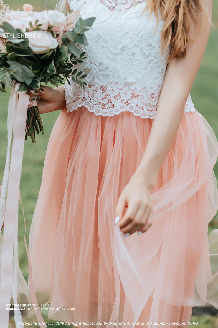 Alyssa | Engagement Lace Crop Top - StylishBrideAccs