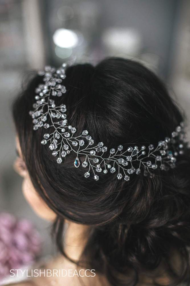 Amelia | Bridal crystal hairpiece - StylishBrideAccs