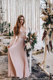 Ariel Maxi | Pearl top with silk slip dress - StylishBrideAccs