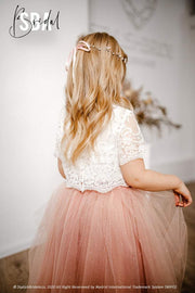 Belle | Flower Girl Birthday Lace Top - StylishBrideAccs