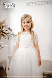 Belle | Flower Girl Lace Top & Fay Tulle Skirt - StylishBrideAccs