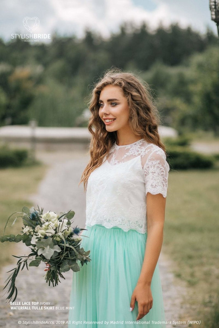 Belle | Lace Evening Blouse - StylishBrideAccs