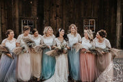 Belle | Rustic Bridesmaids Top & Waterfall Skirt - StylishBrideAccs