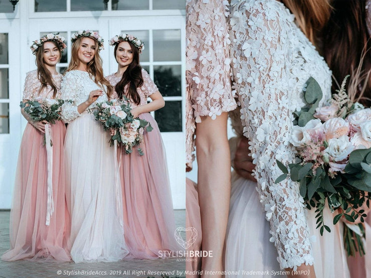 Blossom | Prom 3D Top & Waterfall Skirt - StylishBrideAccs