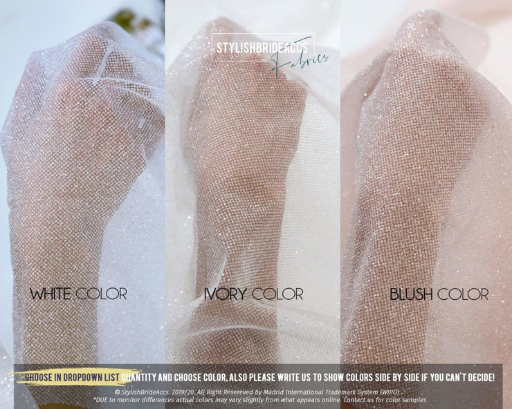 Blush Sparkle Glitter Fabric Wholesale - StylishBrideAccs
