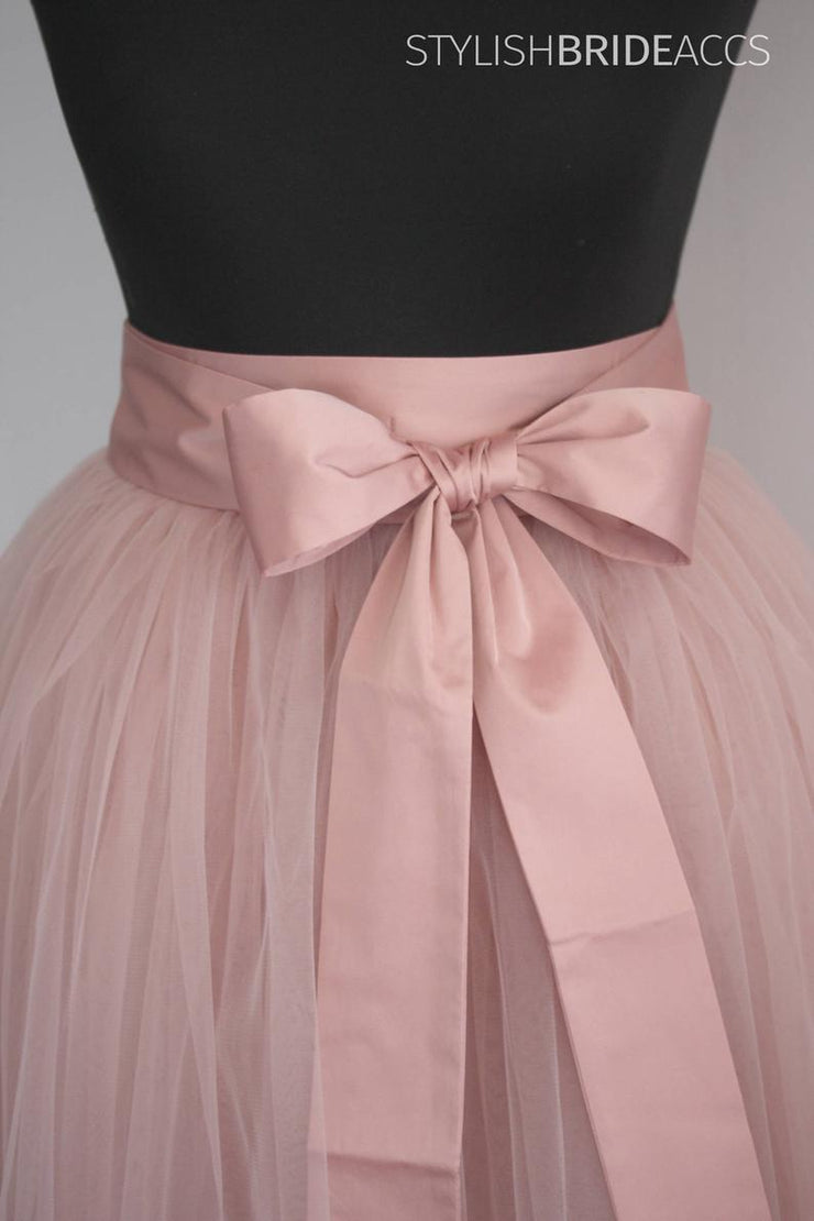 Bridesmaid Silk Sash For Dress - StylishBrideAccs