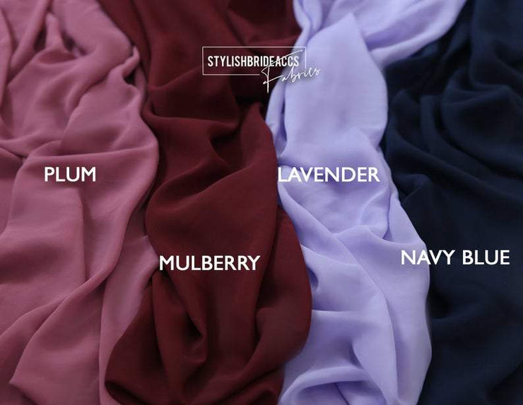 Chiffon Fabric for Skirts and Dresses - StylishBrideAccs