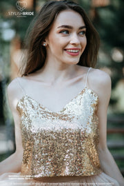 Confetti | Gold Sequined Engagement Top - StylishBrideAccs