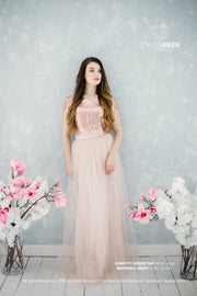 Confetti | Prom Sequin Top & Waterfall Skirt - StylishBrideAccs