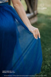 Confetti | Prom Silver Top & Waterfall Blue Skirt - StylishBrideAccs