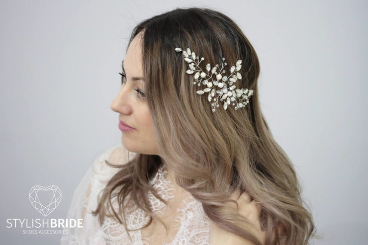Crystal Wedding Hair Vine, Hair Vine, Crystal Hair Accessories, Crystal Vine, Bridal Hairpiece - StylishBrideAccs