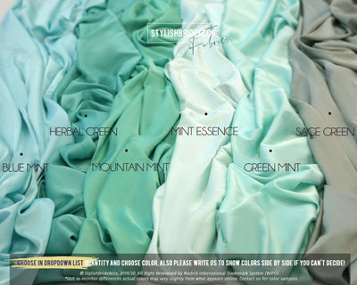 Emerald Green Silk Fabric for DIY - StylishBrideAccs
