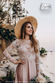 Enchanted Forest | Nude lace bridal separates - StylishBrideAccs