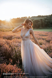 Fairytale | Glitter Tulle Boho Dress Open Back - StylishBrideAccs