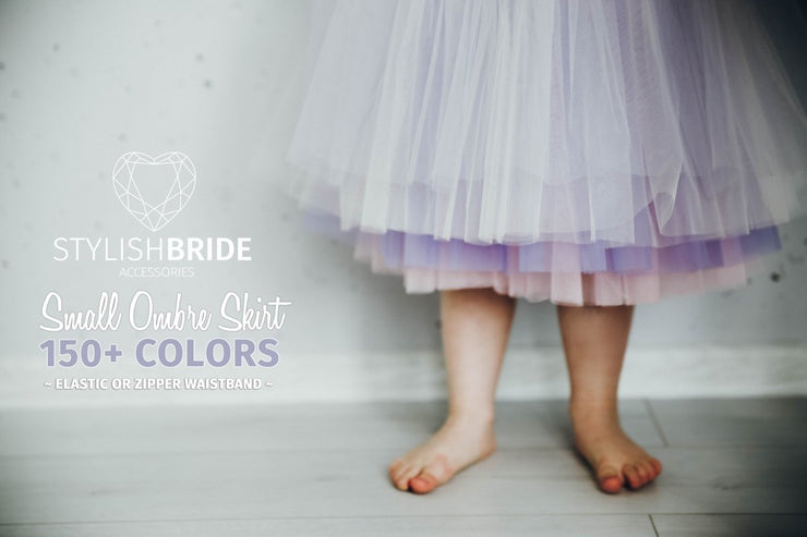 Flower Girl Ombre Tulle Skirt - StylishBrideAccs