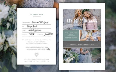 Gift voucher certificate StylishBrideAccs - Bride & Bridesmaid best gift - StylishBrideAccs