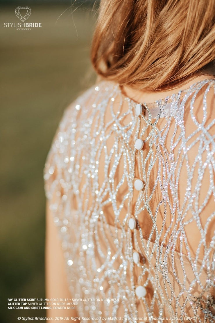 Gina | Glitter Engagement Crop Top - StylishBrideAccs