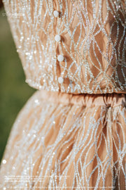 Glitter Waves Wedding Dress - Sparkle Tulle Bridal Separates - StylishBrideAccs