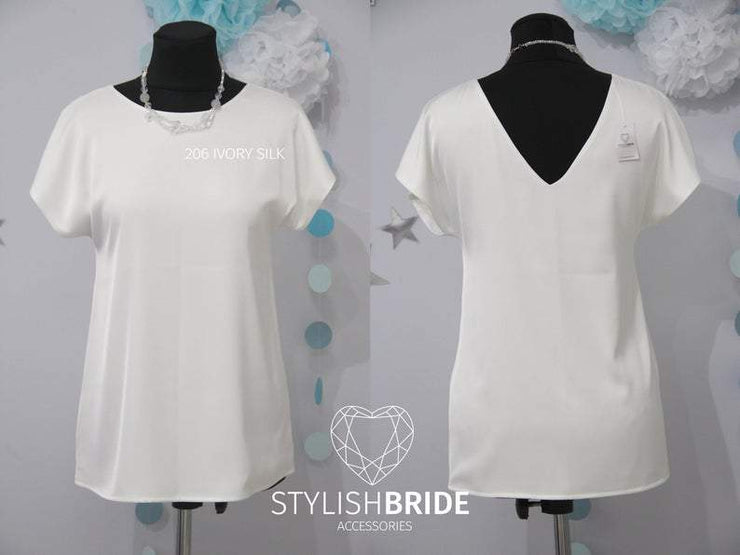 Glory | Silk Satin Bridesmaids Top - StylishBrideAccs