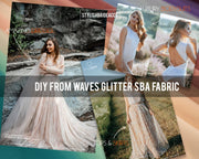 Gold Waves Glitter Fabric By The Yard - StylishBrideAccs