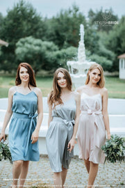 Greta | Cami Bridesmaid Silk Slip Dress - StylishBrideAccs