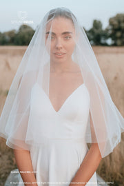 Classic Tulle Veil With Blusher | Boho Veil 2020