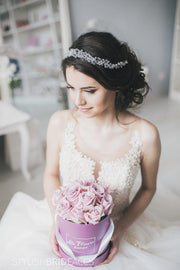 Mia | Bridal crystal hair crown