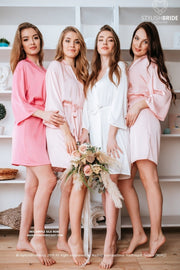 Iris | Silk Bridesmaid Robes Pink palette - StylishBrideAccs