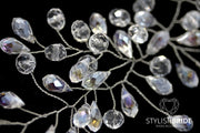 Isabelle | Wedding pearl crystal hair hairpiece - StylishBrideAccs
