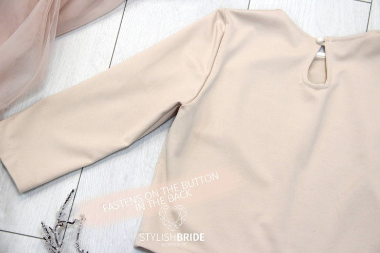 Jersey | Winter Party Top with Long Sleeves - StylishBrideAccs