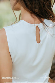 Jessica | Silk Sleeveless Bridesmaids Top - StylishBrideAccs