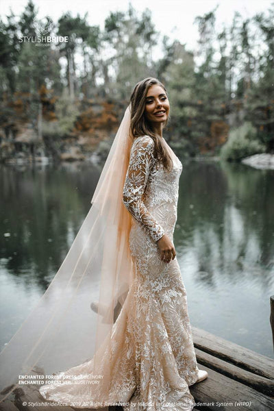 Mermaid | Enchanted Forest Nude Boho Dress - StylishBrideAccs