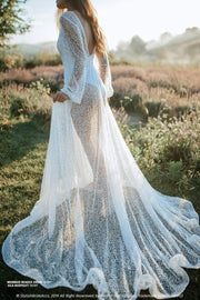 Mermaid | Ivory Beaded Bridal Dress & Bodysuit - StylishBrideAccs
