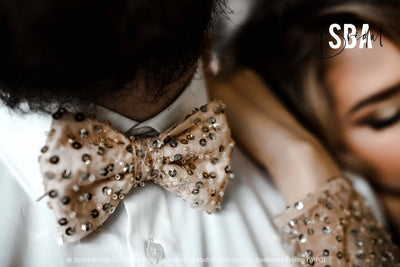 Mermaid | Sequin Beaded Lux Groom Bow Tie - StylishBrideAccs