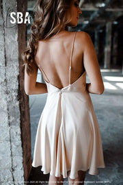 Mermaid | Silk Slip Short Bridal Dress - StylishBrideAccs