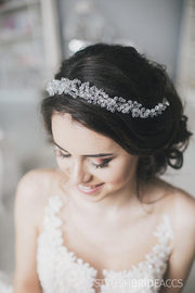 Mia | Bridal crystal hair crown - StylishBrideAccs