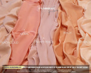 Peach Silk Fabric for Dressmaking - StylishBrideAccs