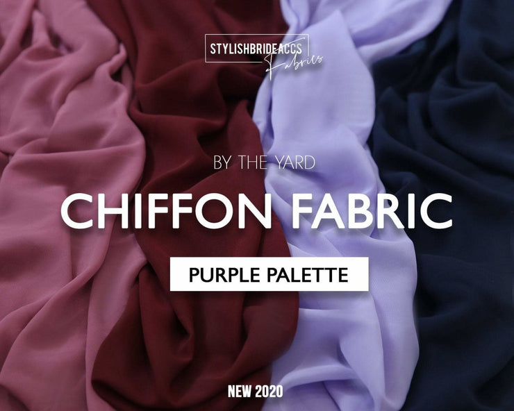 Purple Chiffon Fabric By The Yard - StylishBrideAccs