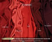 Red Wine Silk Fabric By The Yard - StylishBrideAccs
