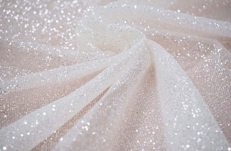 Shimmer Sparkle Glitter Fabric by the Yard - StylishBrideAccs