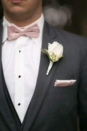Silk Men Bow Ties with Pocket Square - StylishBrideAccs