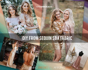 Silver Sequin Fabric, Wholesale - StylishBrideAccs