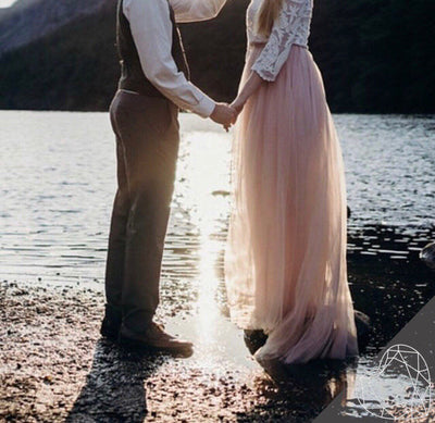 Simple and airy 2 layers tulle skirt - Biscuit Blush Tulle Skirt Women's - Engagement or Prom dress - StylishBrideAccs
